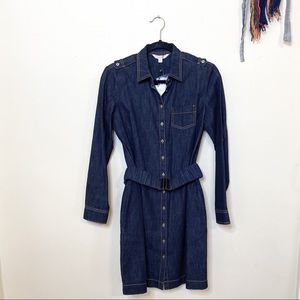 Brooks Brothers • NWT belted denim button up dress